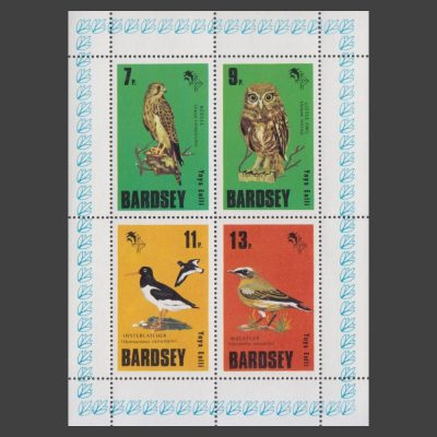 Bardsey 1979 Birds Set in Sheetlet (4v, 7p to 13p, U/M)