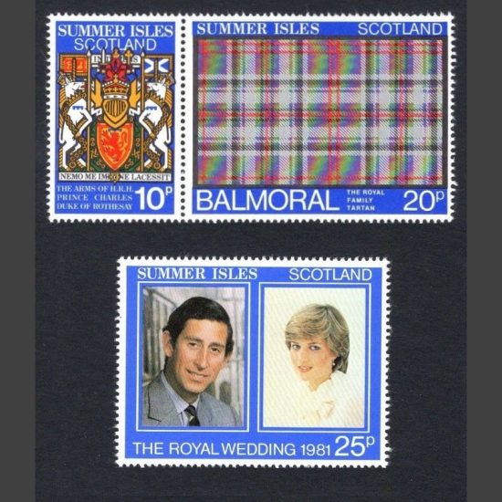 Summer Isles 1981 Royal Wedding (3v, 10p to 25p, U/M)