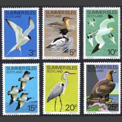 Summer Isles 1980 Birds of the North West (6v, 3p to 25p)