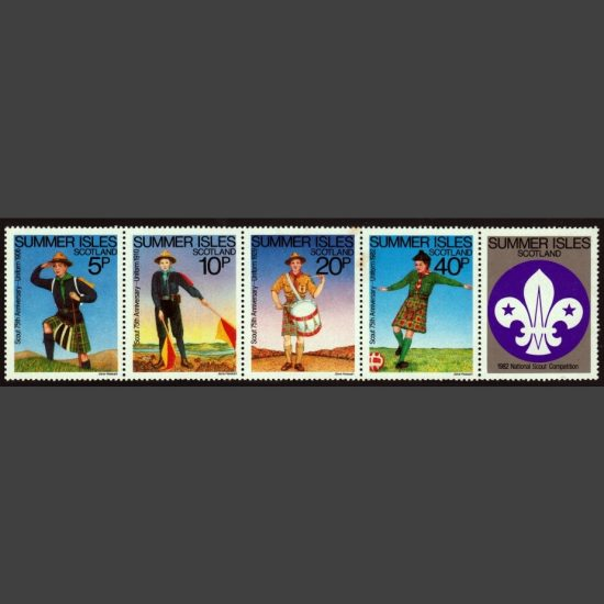 Summer Isles 1982 75th Anniversary of the Boy Scouts (4v, 5p to 40p, U/M)