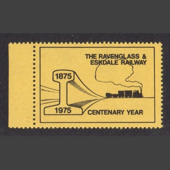 Ravenglass & Eskdale Railway 1975 Centenary Year Publicity Label (U/M)