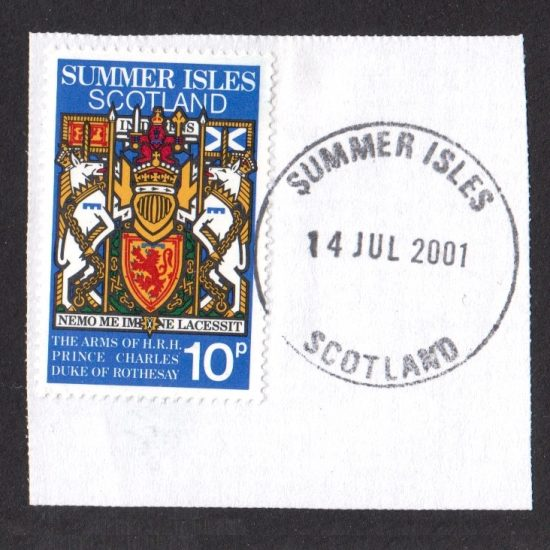 Summer Isles 1981 Royal Wedding 10p Stamp Used on Piece