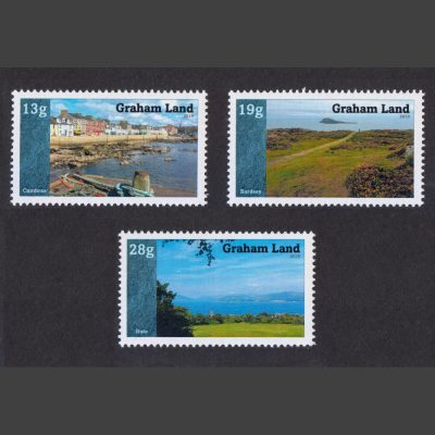 Graham Land 2019 Islands of the United Kingdom (Issue 1) (3v, 13g to 28g, U/M)