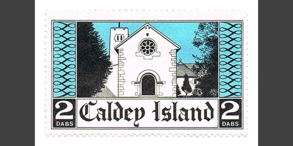 Original 1973 Caldey issue, blown up to show the detail of the artwork