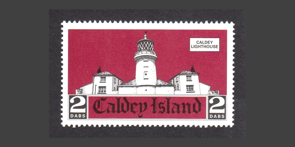 2001 Caldey issue depicting the island's lighthouse