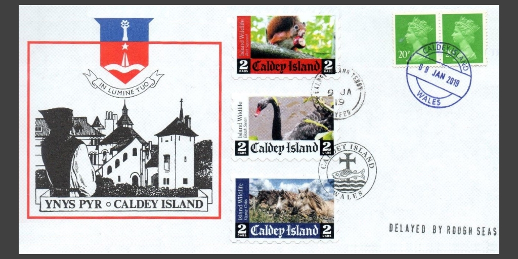 Caldey wildlife issue from 2018, used on cover