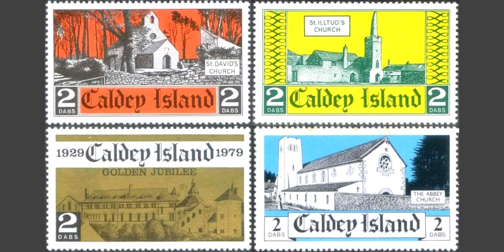Subsequent stamp issues by Caldey between 1974 and 1982