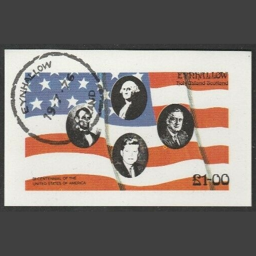 Eynhallow / Holy Island 1976 US Bicentenary Sheetlet (£1, CTO)