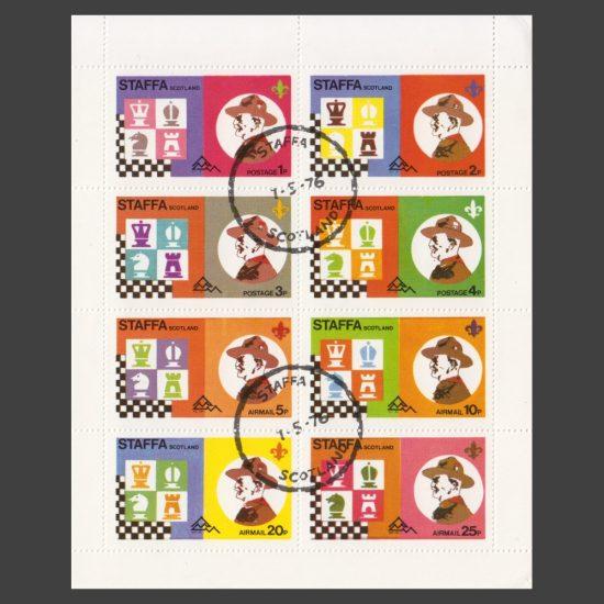 Staffa 1976 Scouts & Chess (8v, 1p to 25p, CTO)