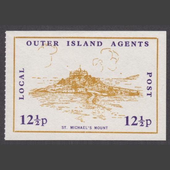Outer Island Agents 1971 12½p Local Post (Emergency Strike Post) Stamp (U/M)