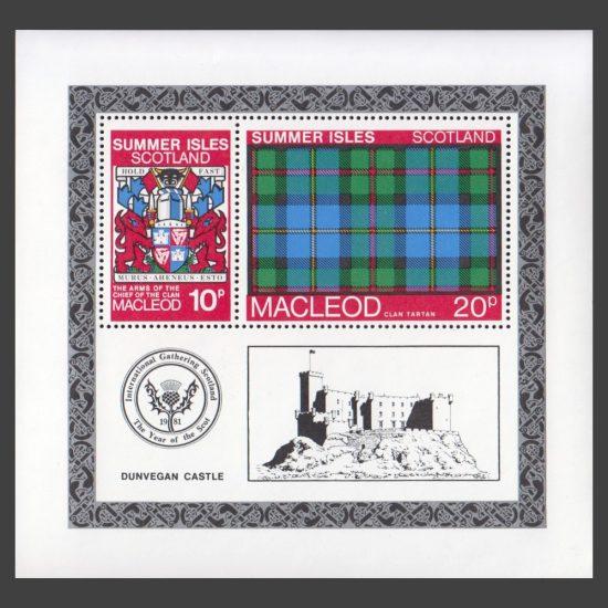 Summer Isles 1981 Clan Tartan - MacLeod Miniature Sheet (U/M)