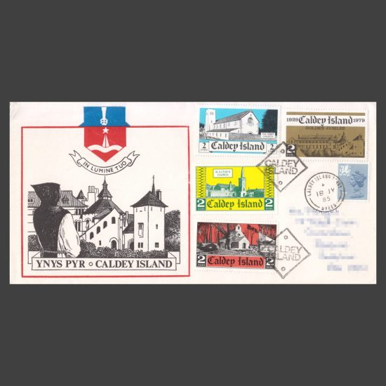 Caldey Island 1974-1982 Stamps Used on Cover