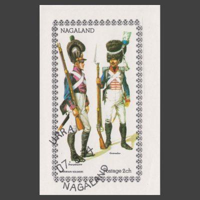 Nagaland 1974 Bavarian Soldiers Sheetlet (2ch, CTO)