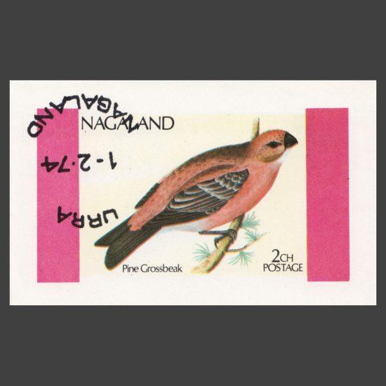 Nagaland 1974 Pine Grosbeak Sheetlet (2ch, CTO)