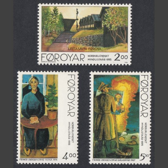Faroe Islands 1995 50th Anniversary of the Nordic Artists Association (SG 274-276, U/M)