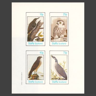 Staffa 1982 Birds Imperforate Sheetlet (4v, 10p to 75p, U/M)