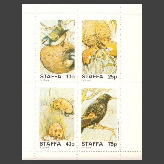 Staffa 1982 Wildlife Sheetlet (4v, 10p to 75p, U/M)