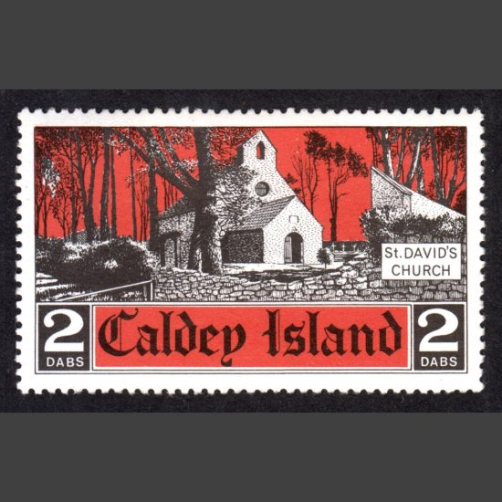 Caldey Island 1974 St David's Church (2 Dabs, U/M)