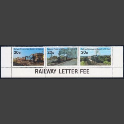Railway Preservation Society of Ireland 1981 Definitives (20p x3, U/M)