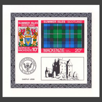 Summer Isles 1981 Clan Tartan - MacKenzie Miniature Sheet (U/M)