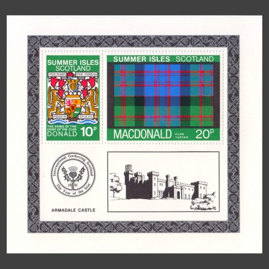 Summer Isles 1981 Clan Tartan - MacDonald Miniature Sheet (U/M)