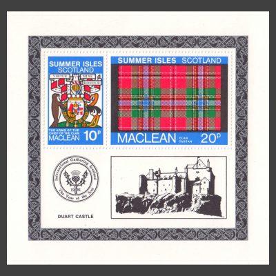 Summer Isles 1981 Clan Tartan - MacLean Miniature Sheet (U/M)