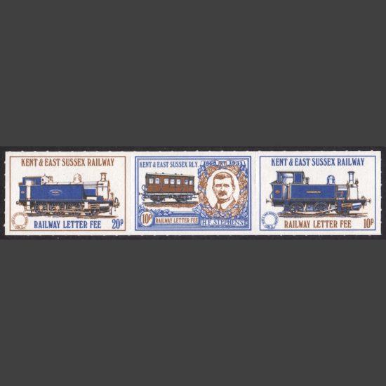Kent & East Sussex Railway 1981 Definitives (3v, U/M)