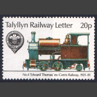 Talyllyn Railway 1981 20p No. 4 'Edward Thomas' Locomotive (U/M)