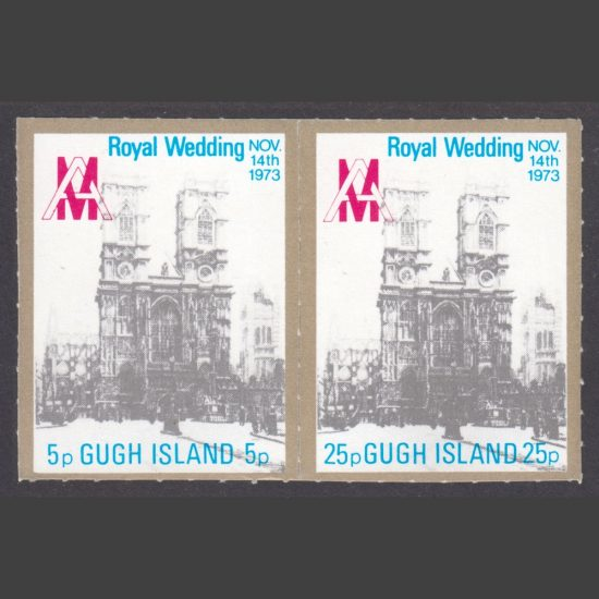 Gugh Island 1973 Royal Wedding Part Set (2v, 5p and 25p, U/M)