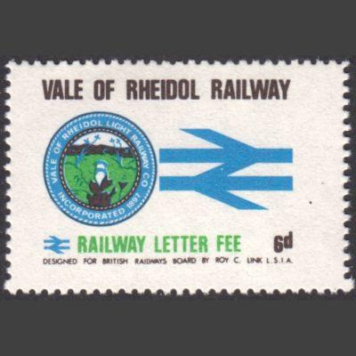 Vale of Rheidol Railway 1970 6d Definitive (U/M)