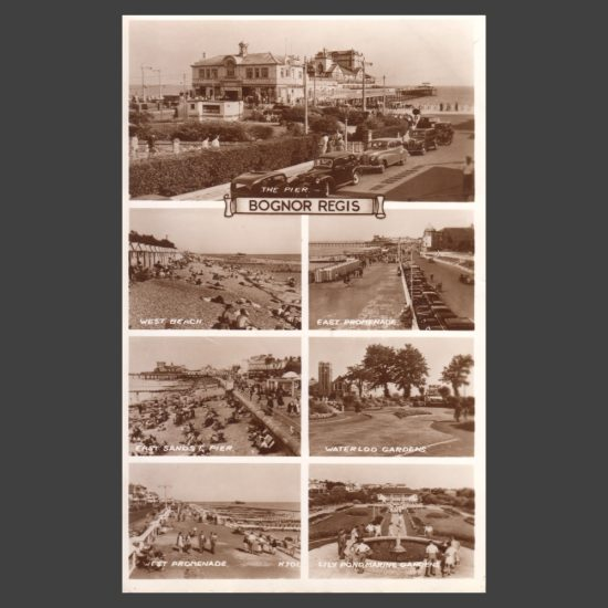 Postcard - Bognor Regis Real Photo Multiview by Valentine's, 1950