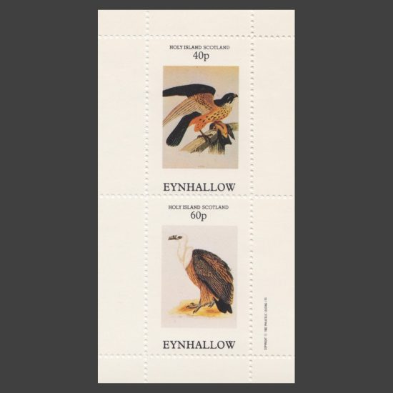 Eynhallow / Holy Island 1982 Birds (2v, 40p and 60p, U/M)