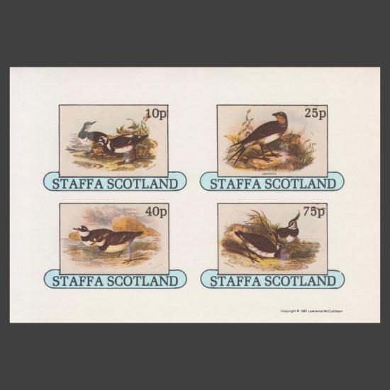 Staffa 1981 Birds Imperforate Sheetlet (4v, 10p to 75p, U/M)