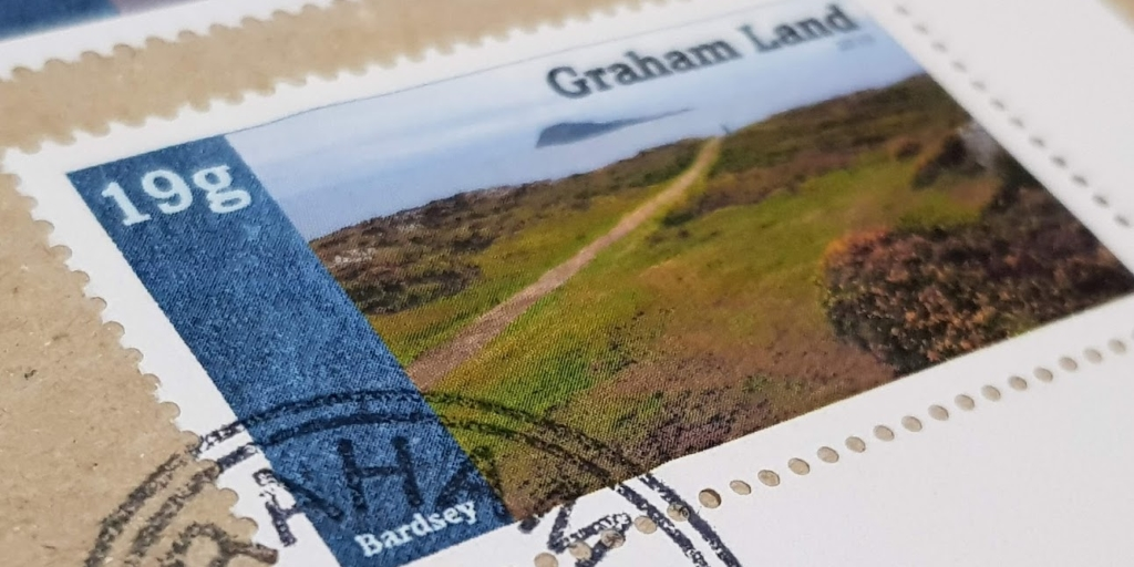 Graham Land Cinderella stamp with postmark