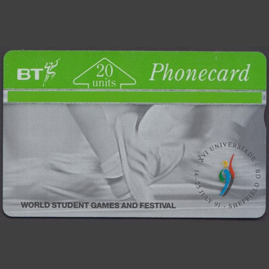 BT 1991 Sheffield World Student Games 20 Unit Phonecard (Used)