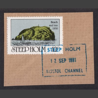 Steep Holm 1980 12p Stamp Used on Piece with 1981 Postmark