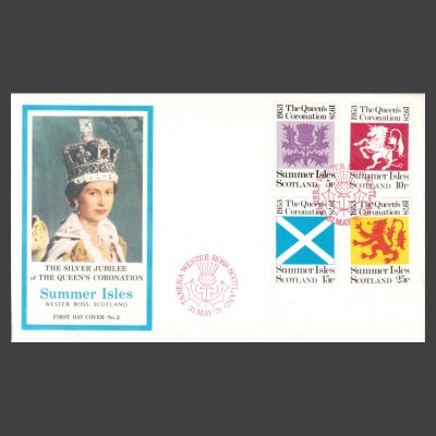 Summer Isles and Great Britain 1978 Silver Jubilee of Queen's Coronation First Day Cover (FDC)