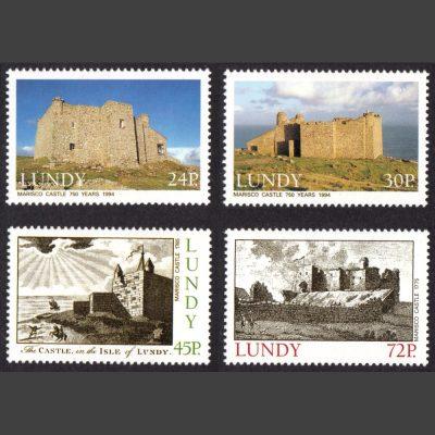 Lundy 1994 Marisco Castle (4v, 24p to 72p, U/M)