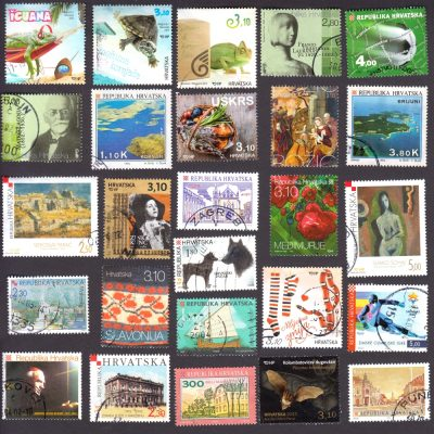 Croatia - Collection of 25 Different Used Stamps
