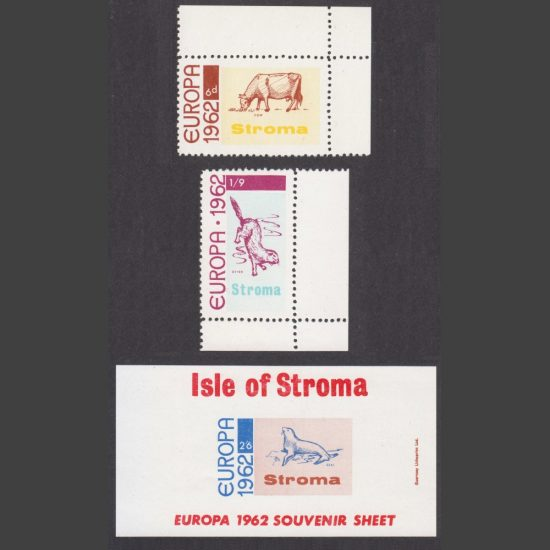 Stroma 1962 Europa Part Set (3v, 6d to 2s6d, U/M)