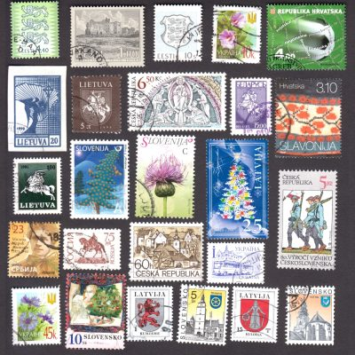 Ex-USSR/Yugoslavia/Czechoslovakia – Collection of 25 Different Used Stamps from Independent New Republics