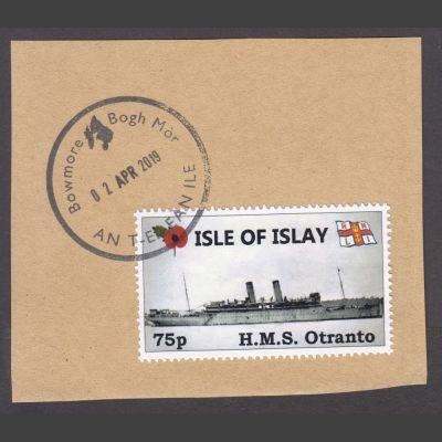 Islay 2018 75p HMS Otranto (Used on Piece)