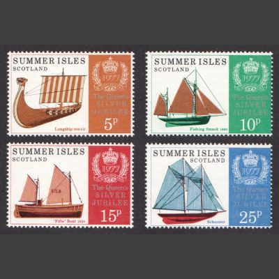 Summer Isles 1977 Silver Jubilee of Queen's Accession (4v, 5p to 25p, U/M)