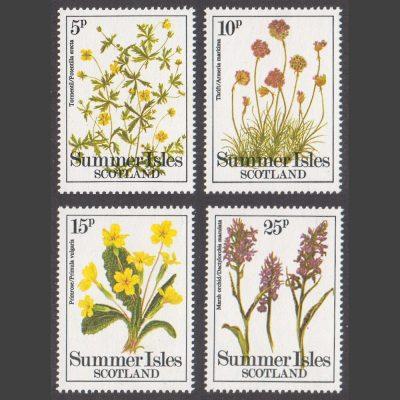 Summer Isles 1979 Wild Flowers (4v, 5p to 25p, U/M)