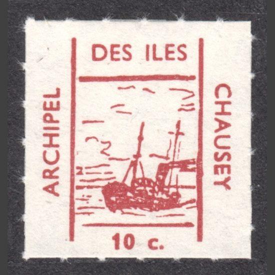Chausey 1961 Boat Stamp (10c, U/M)