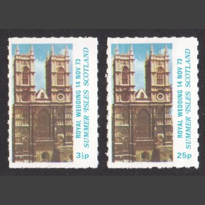Summer Isles 1973 Royal Wedding - not se-tenant (2v, 3½p and 25p, U/M)