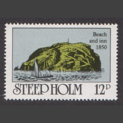 Steep Holm 1980 Landing Beach & Inn (12p - single value, U/M)