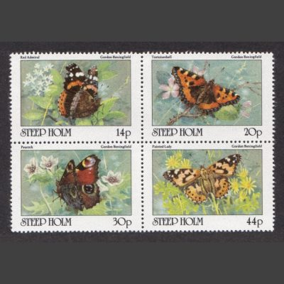 Steep Holm 1981 Butterflies (4v, 14p to 44p, U/M)