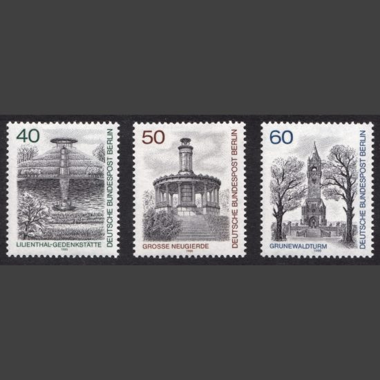 Germany West Berlin 1980 Berlin Views (3rd Series) (SG B605-607, U/M)
