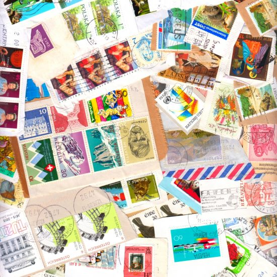 50g World Kiloware - On-Paper Mix of 150+ Stamps